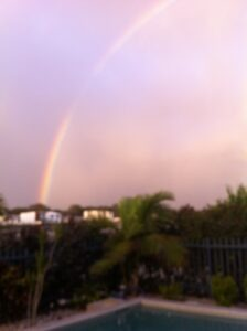 great to wake up with a rainbow view
