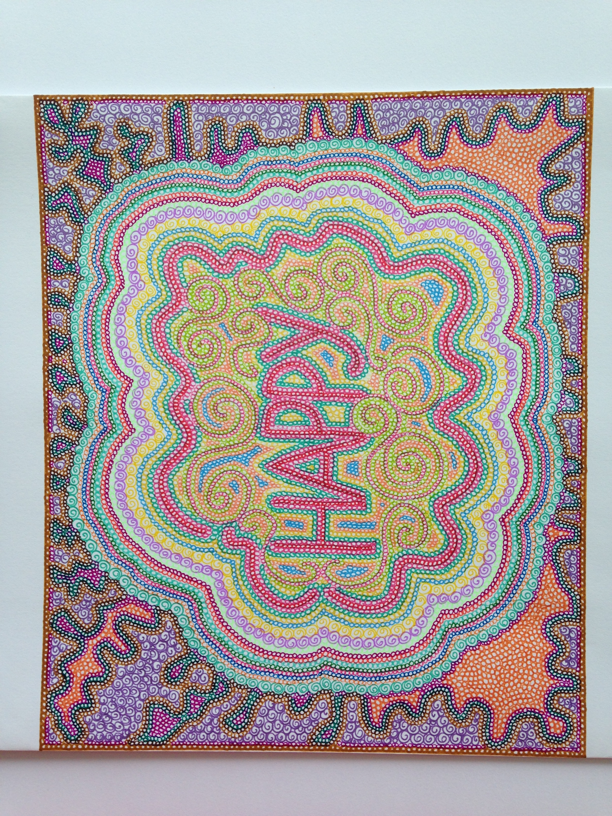 Happy Mandala Drawing